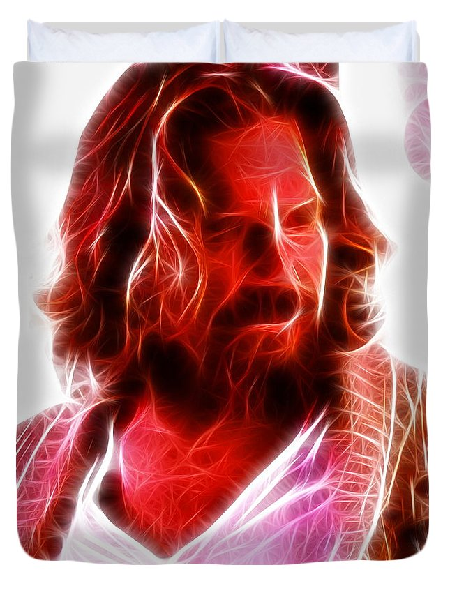 The Dude Duvet Cover featuring the painting The Dude by Paul Van Scott