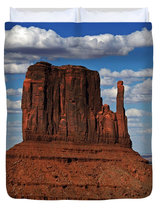 Monument Duvet Cover featuring the photograph The East Mitten Butte by David Pringle