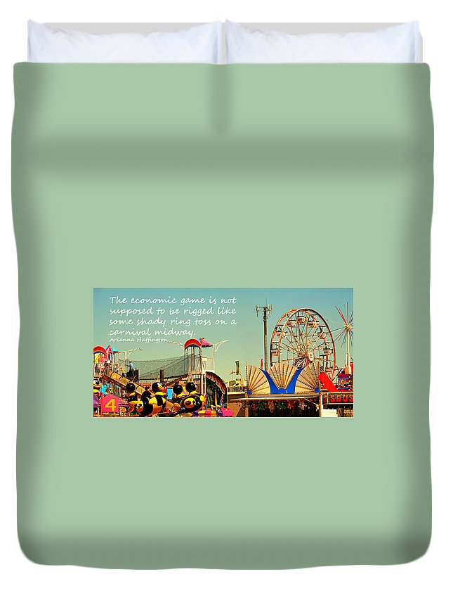 Carnival Duvet Cover featuring the photograph The Economic Game by Ian MacDonald