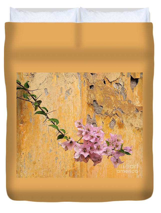 Bougainvillea Duvet Cover featuring the photograph The Escaping Bougainvillea by Vivian Christopher