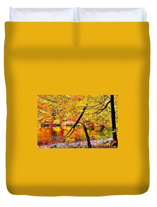 Autumn Duvet Cover featuring the photograph The Final Bough by Kristin Elmquist