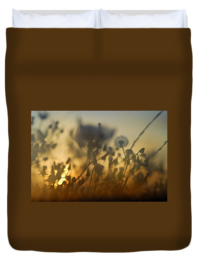Abstract Duvet Cover featuring the photograph The Fire Of The Sun by Guido Montanes Castillo