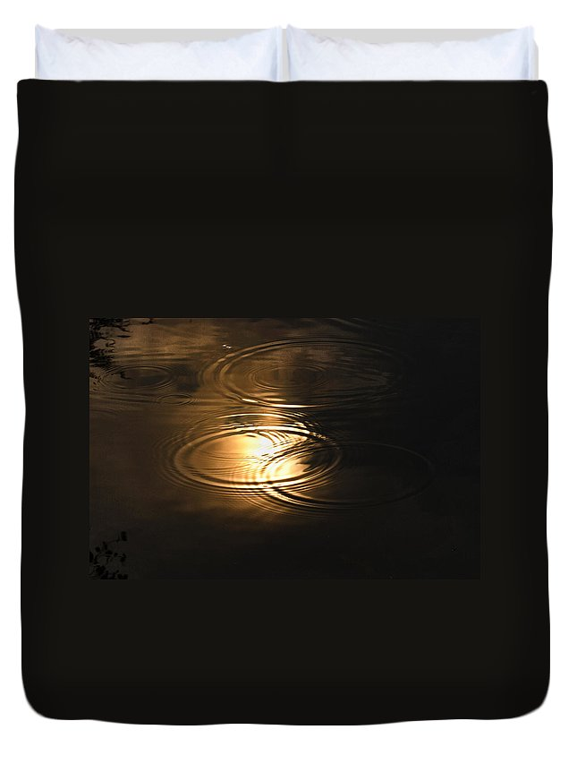 Water Duvet Cover featuring the photograph The First Drops Of Rain by Scott Rogers