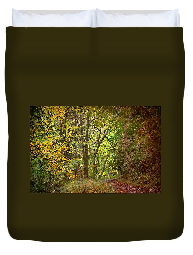 Textures Duvet Cover featuring the photograph The Forest by Guido Montanes Castillo