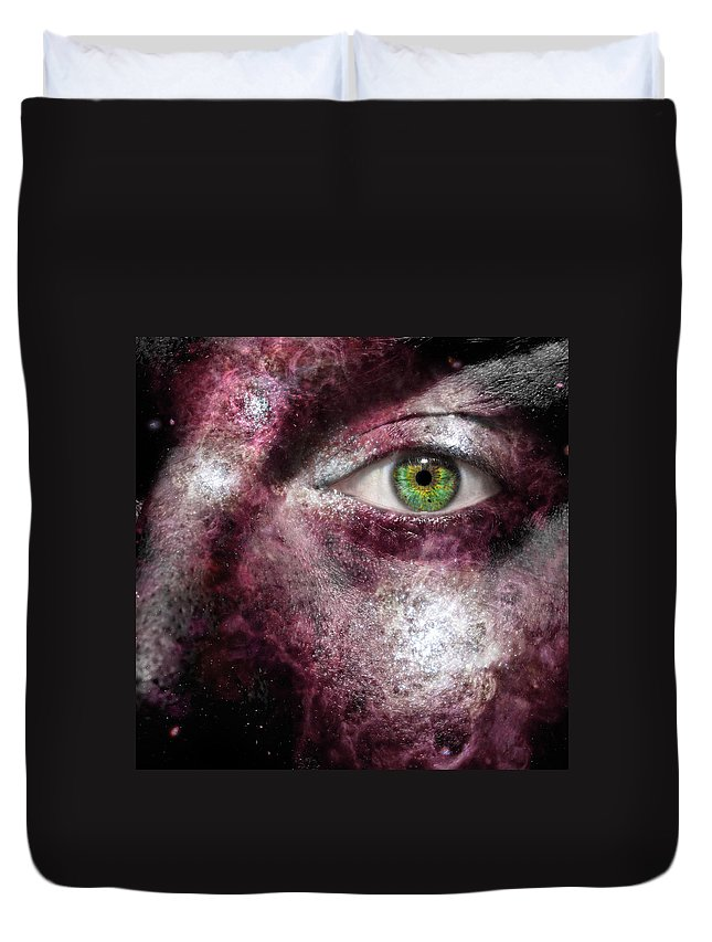 Art Duvet Cover featuring the photograph The Galaxeye by Semmick Photo