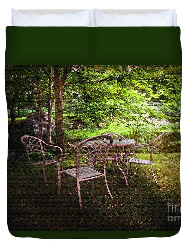 Garden Duvet Cover featuring the photograph The Garden by Madeline Ellis