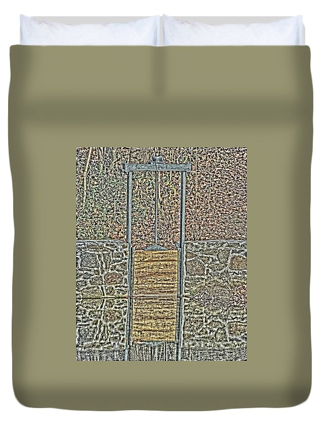 Landscape Duvet Cover featuring the photograph The Gate by Tom Leach