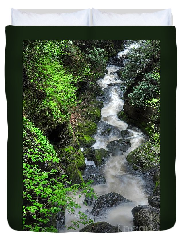 Waterfalls Duvet Cover featuring the photograph The Gorge by Paul Ward