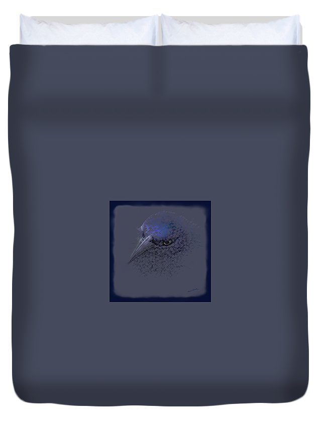 The Grackle 2 Duvet Cover featuring the photograph The Grackle 2 by Ernie Echols