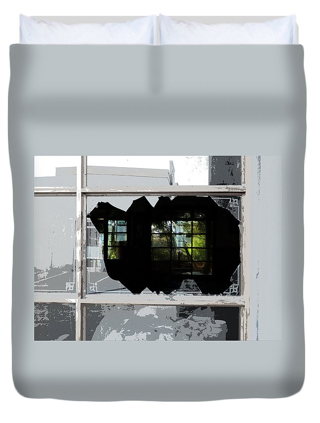 Grass Is Greener Duvet Cover featuring the photograph The Grass Is Always Greener On The Other Side by Steve Taylor