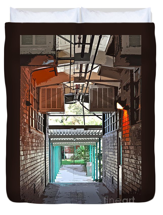 Hallway Duvet Cover featuring the photograph The Hallway by Gwyn Newcombe