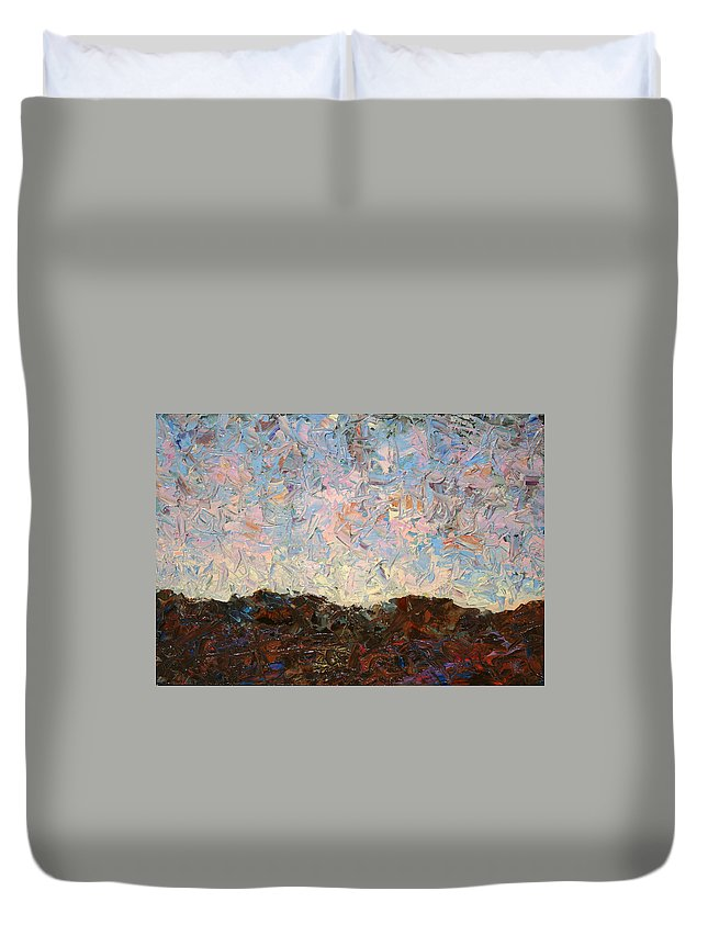 Hills Duvet Cover featuring the painting The Hills by James W Johnson