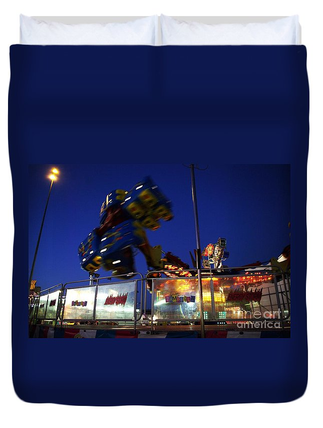 Night Photos Duvet Cover featuring the photograph The Hurricane by Jeff Swan