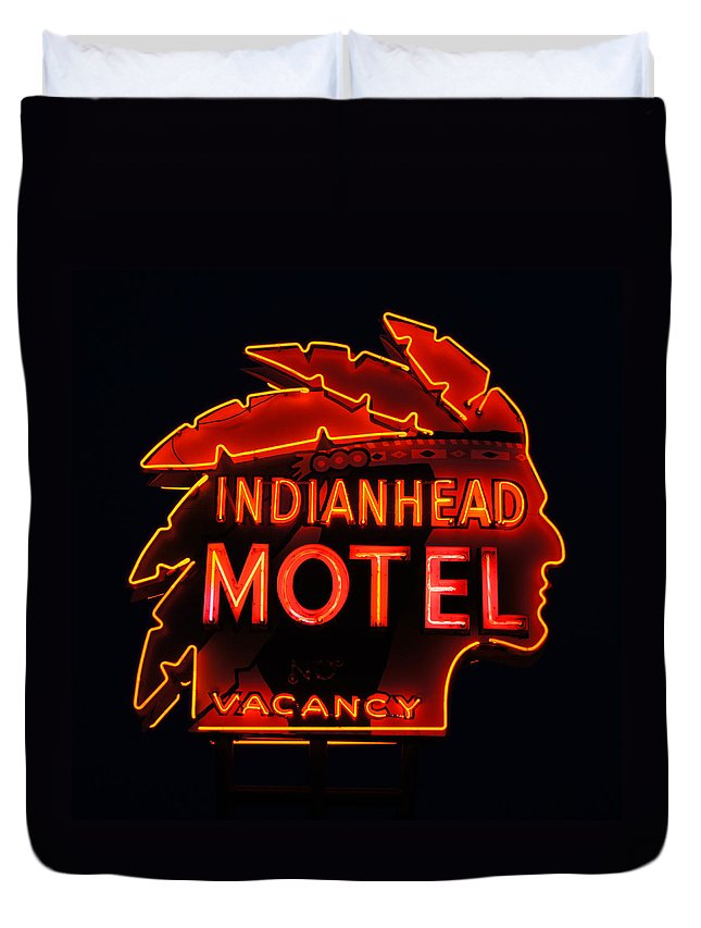 Indianhead Duvet Cover featuring the photograph The Indianhead by Bill Pevlor