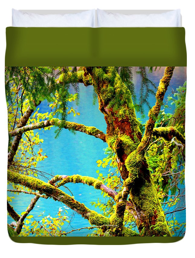 Lake Duvet Cover featuring the photograph The Lake by Marie Jamieson