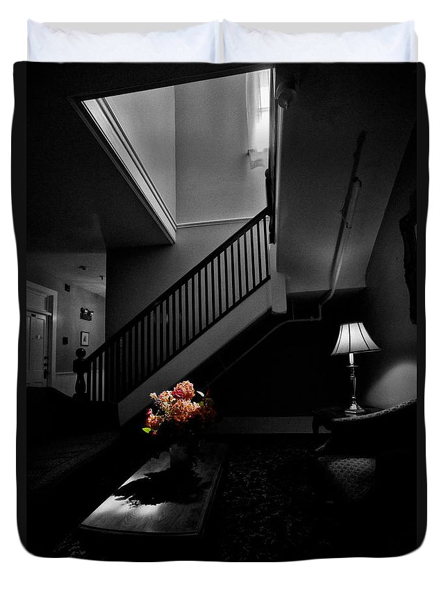 Stairway Duvet Cover featuring the photograph The Landing by Christopher Holmes