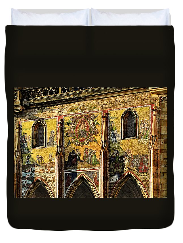 Judgment Duvet Cover featuring the photograph The Last Judgment - St Vitus Cathedral Prague by Christine Till