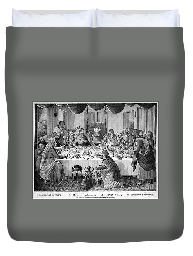 1835 Duvet Cover featuring the photograph The Last Supper by Granger