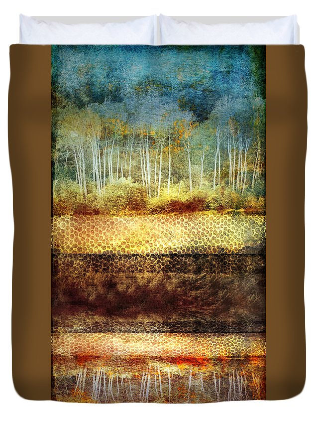 Trees Duvet Cover featuring the digital art The Losses Reflected by Tara Turner
