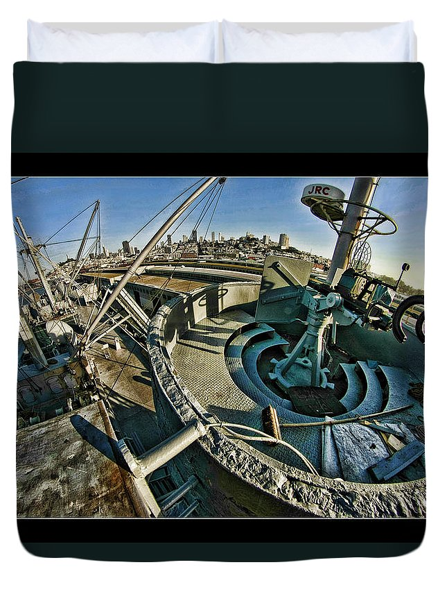 Duvet Cover featuring the photograph The Machinegun Nest by Blake Richards