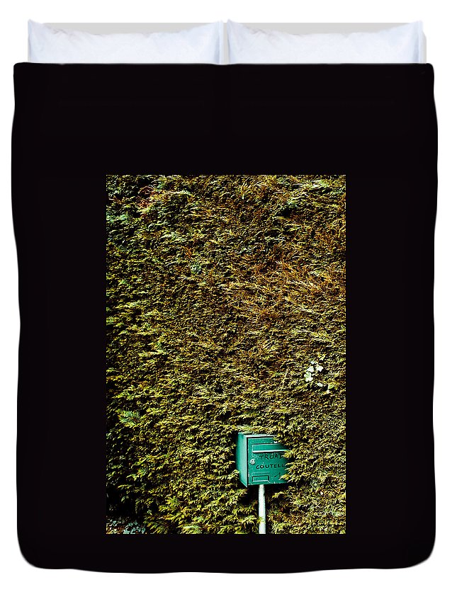 Duvet Cover featuring the photograph The Mail Box by Olivier De Rycke