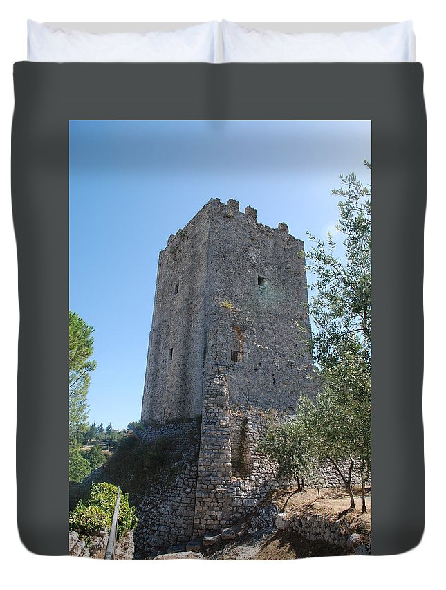 Tower Duvet Cover featuring the photograph The Medieval Tower by Dany Lison