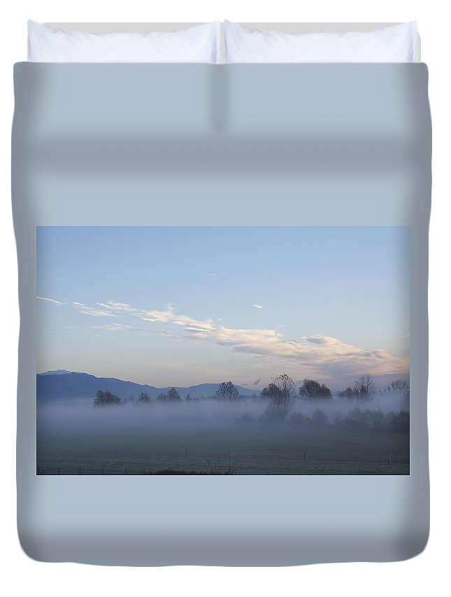 Veneto Duvet Cover featuring the photograph The Morning Fog by Donato Iannuzzi