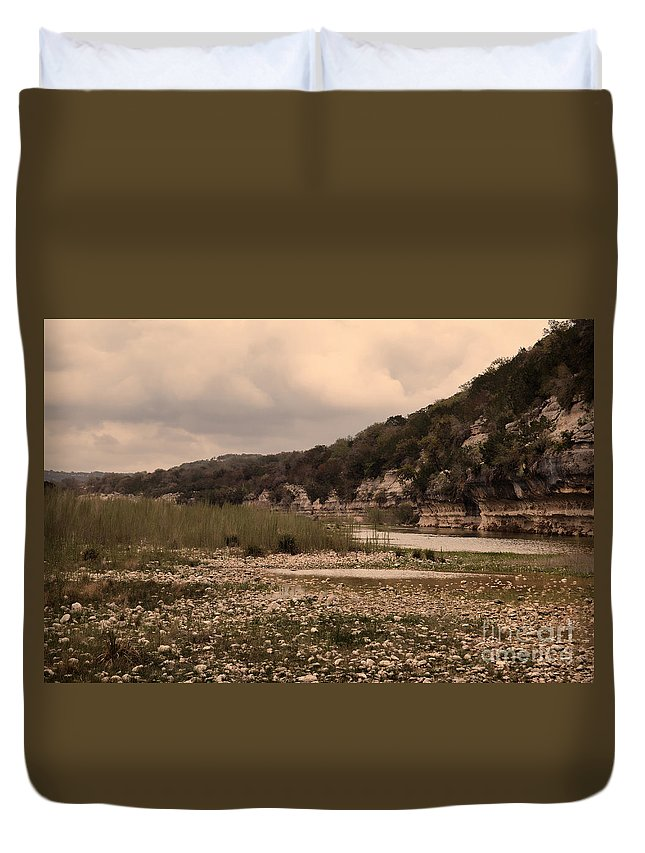 River Duvet Cover featuring the photograph The Nueces River II by Donna Greene