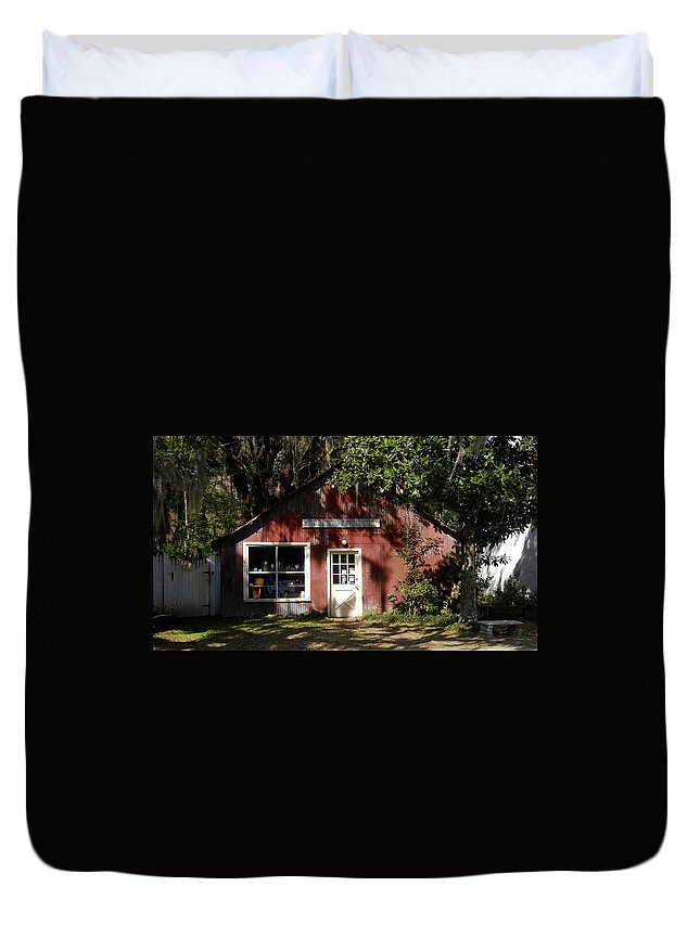 Anique Store Duvet Cover featuring the photograph The Old Antique Store by David Lee Thompson
