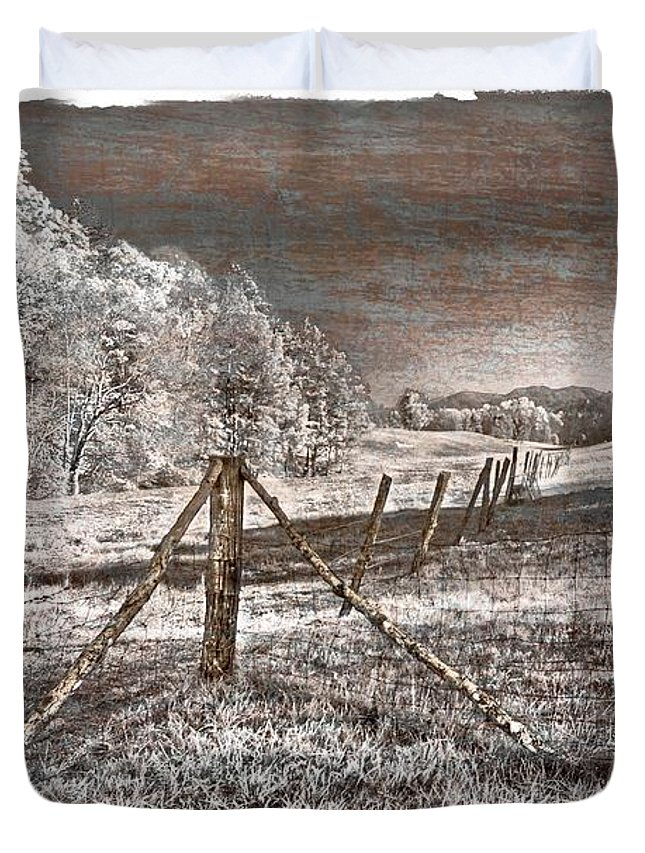 Appalachia Duvet Cover featuring the photograph The Old Farm by Debra and Dave Vanderlaan