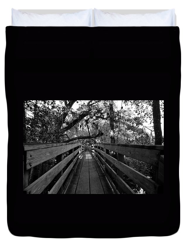 Fine Art Photography Duvet Cover featuring the photograph The Old Hillsborough Bridge by David Lee Thompson