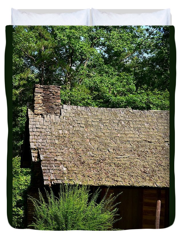 House Duvet Cover featuring the photograph The Old House by Maria Urso