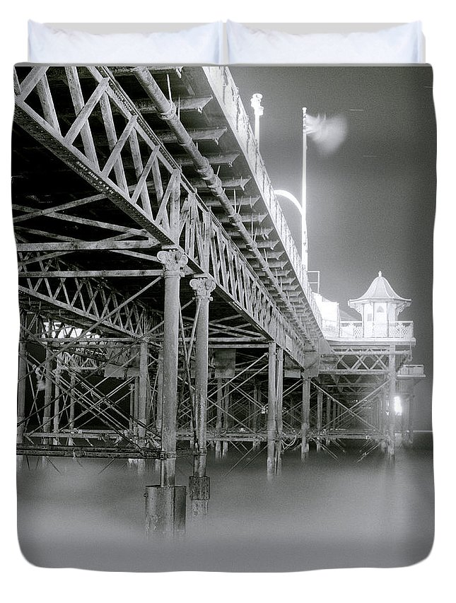 Brighton Duvet Cover featuring the photograph The Palace Pier by Shaun Higson