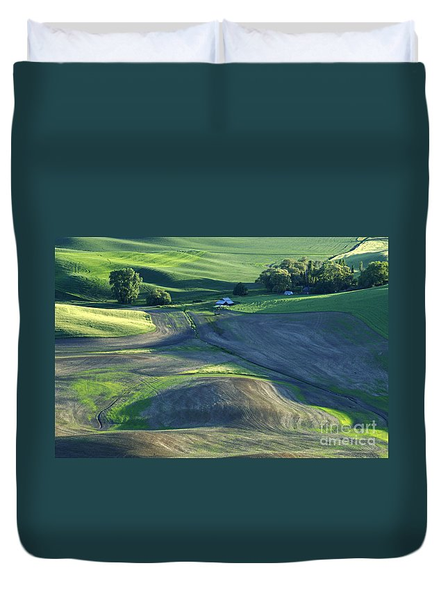 Palouse Duvet Cover featuring the photograph The Palouse 3 by Bob Christopher