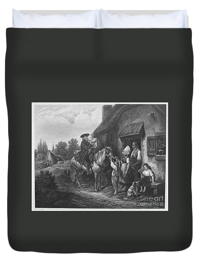 19th Century Duvet Cover featuring the photograph The Pastors Visit by Granger