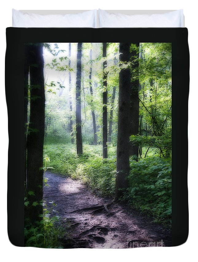 Path Duvet Cover featuring the photograph The Path by David Arment