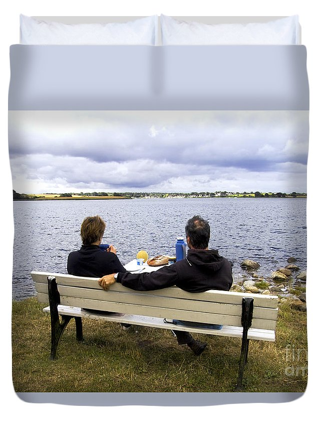 Europe Duvet Cover featuring the photograph The Picnic by Heiko Koehrer-Wagner