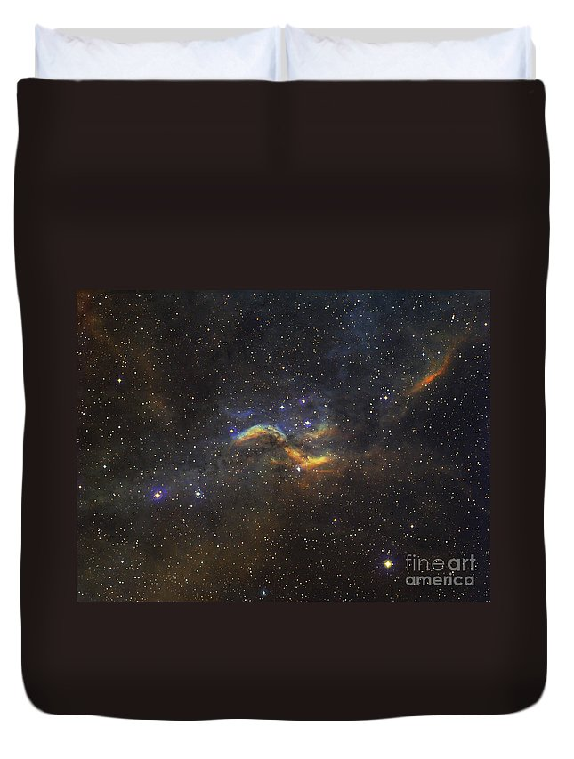 Propeller Nebula Duvet Cover featuring the photograph The Propeller Nebula by Filipe Alves
