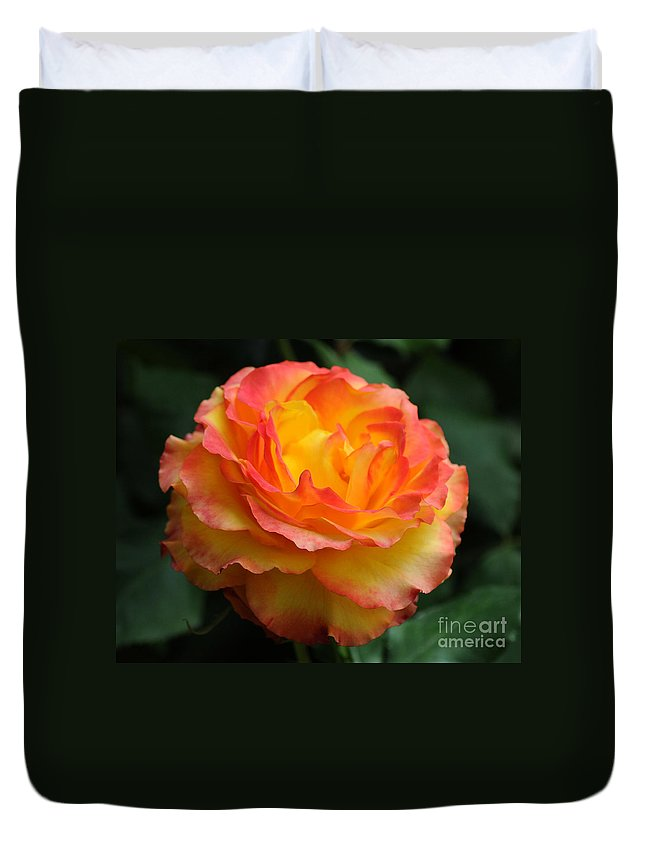 Rose Duvet Cover featuring the photograph The Rose 2 by Vivian Christopher