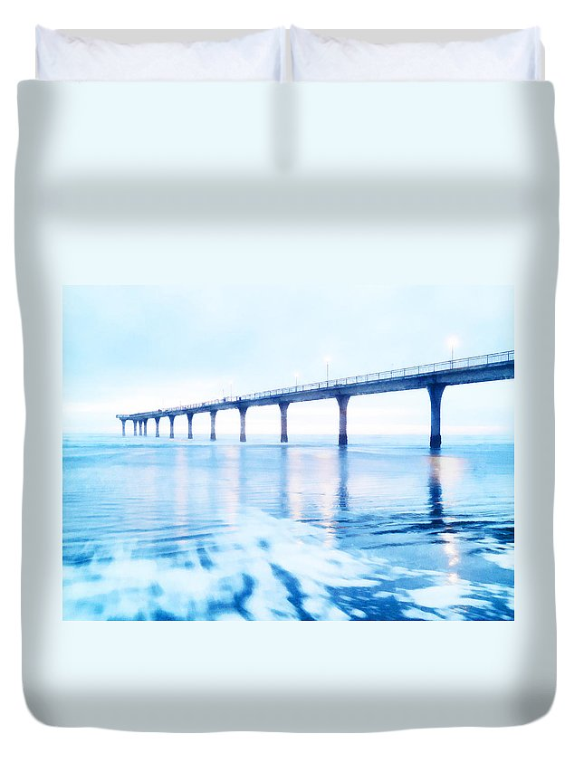 Sea Draws Me Duvet Cover featuring the photograph The Sea Draws Me In by Steve Taylor