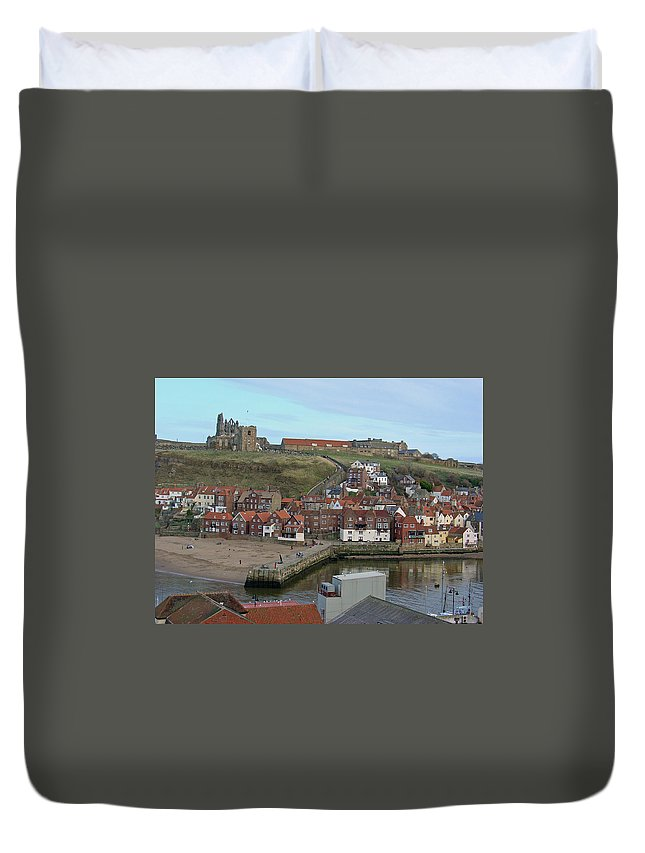 Sky Duvet Cover featuring the photograph The Shambles - Whitby by Rod Johnson