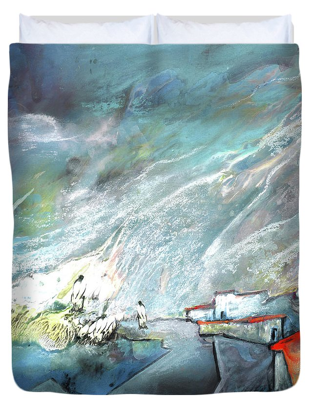 Impressionism Duvet Cover featuring the painting The Shores Of Galilee by Miki De Goodaboom