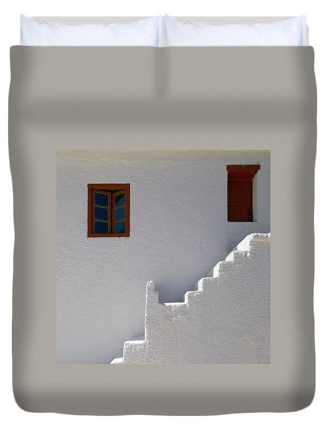 Jouko Lehto Duvet Cover featuring the photograph The Steps And The Window by Jouko Lehto