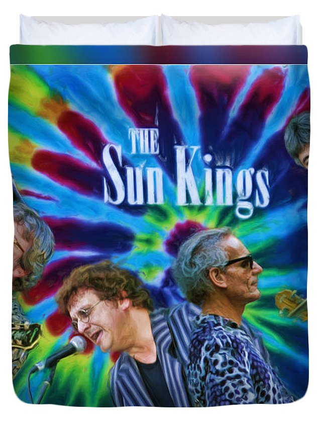 The Sun Kings Duvet Cover featuring the photograph The Sun Kings by Blake Richards