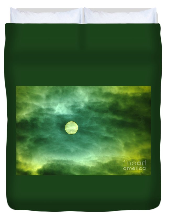 Sun Duvet Cover featuring the photograph The Sun Through Clouds by Jeff Swan
