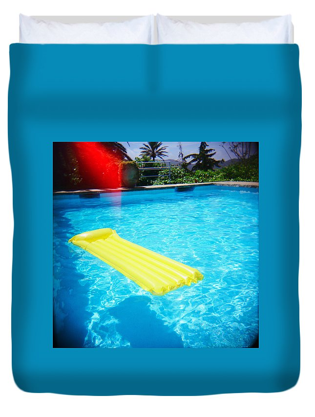 Holga Duvet Cover featuring the photograph The Swimming Pool by Olivier De Rycke