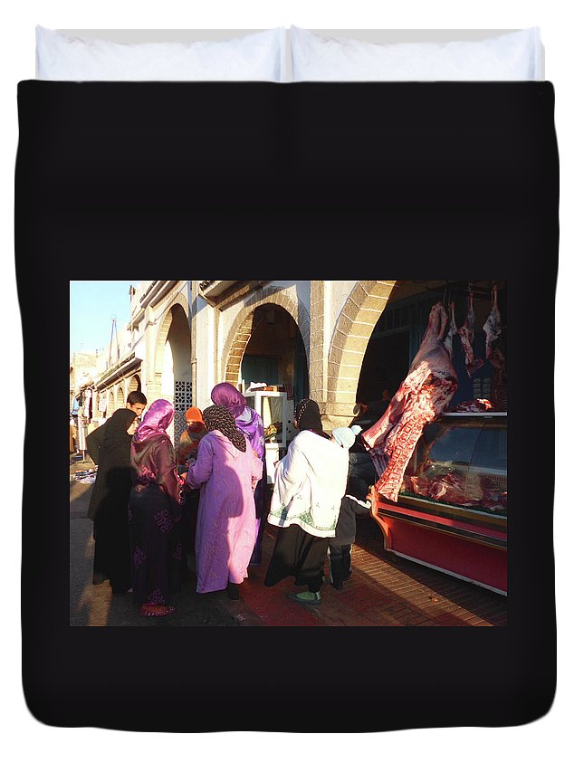 Travel Duvet Cover featuring the photograph The Temptation Of The Flesh by Miki De Goodaboom