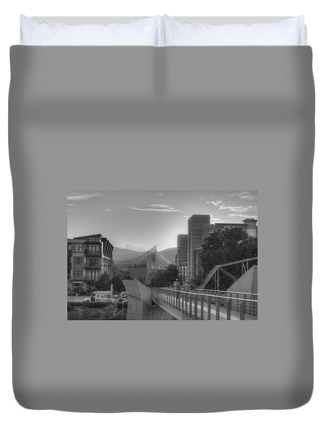 Walkway Duvet Cover featuring the photograph The Walkway by David Troxel