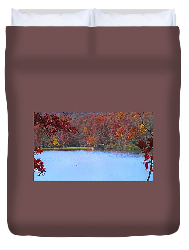 Sherando Duvet Cover featuring the photograph The Watershed by Lynn Bauer