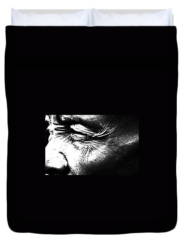 Black And White World Photographer Duvet Cover featuring the photograph The Wince Of Wonder by The Artist Project